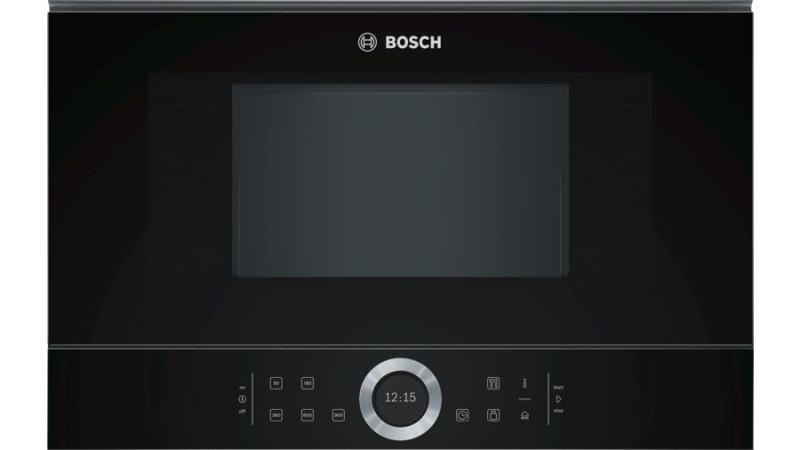 Bosch mikrobølgeovn - indbygget - sort
