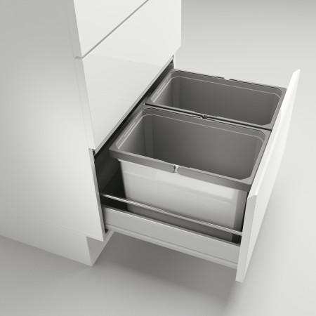 Naber Cox affaldssystem til udtræk - 2 rum - 60 cm