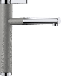 BLANCO LINEE-S SILGRANIT-Look aluminium/krom