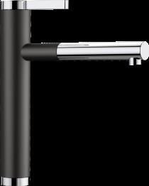 BLANCO LINEE-S HD Armatur - Med Udtræk - Krom og Sort Silgranit