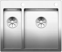 BLANCO Claron - rustfri stål køkkenvask - planlimning eller ilægning - 60,5 cm