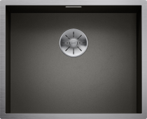 BLANCO Zerox 500-U - rustfri stål køkkenvask - mørk - underlimning - 60.5 cm