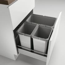 Naber Cox affaldssystem til standard skuffe - 3 rum - 60 cm