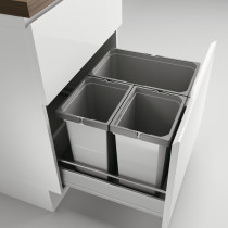 Naber Cox affaldssystem med låg til standard skuffe - 3 rum - 60 cm