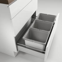 Naber XL Cox Box affaldsspand med biolåg - 3 rum - 80 cm