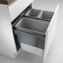 Naber Cox Box affaldssorteringssystem med låg - frontudtrækningssystem - 3 beholdere - 60 cm