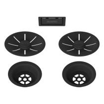 Blanco 2x InFino afløbssæt til køkkenvask - mat sort - 3,5 UXI