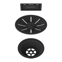 Blanco InFino afløbssæt til køkkenvask - mat sort - 3,5 UXI