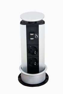 Evoline Powerport - 2 EU stik + 2 USBkontakter
