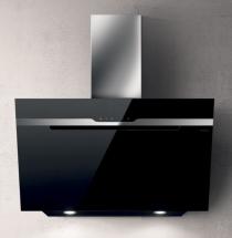 Elica vægemhætte Majestic i sort - 690 (900) M³/t - 90 cm