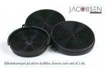 3 stk sæt aktive kulfiltre til emhætter fra by Jacobsen - V2
